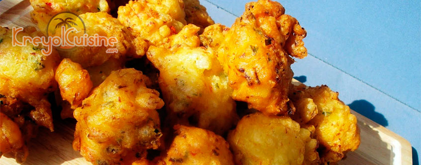 Shrimp fritters Recipe