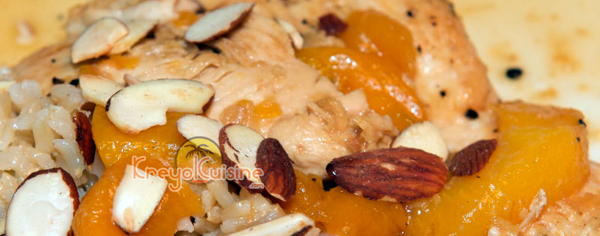Peaches and almonds Chicken Recipe