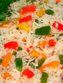 recette de Rice with Vegetable Medley